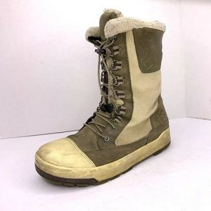 Keen Boot 8.5 Beige Leather Canvas Uppers Keen Dry